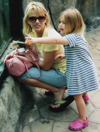 Avery and Christy at the Zoo